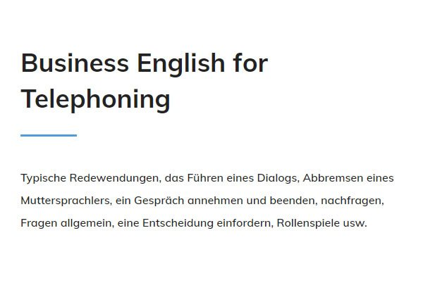 Business English Telephoning für  Nürnberg