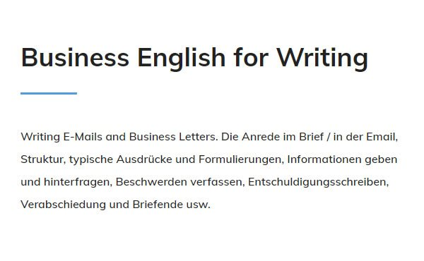 Business English Writing für  Nürnberg