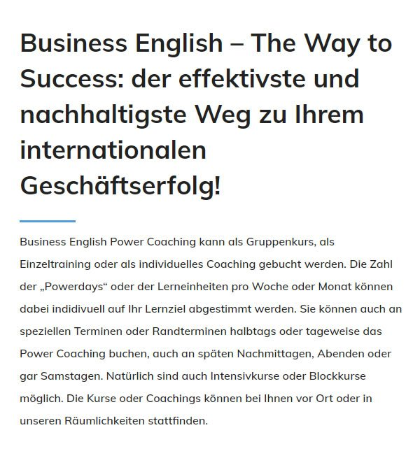 Business English in  Heilbronn