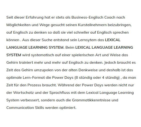 LEXICAL LANGUAGE LEARNING SYSTEM